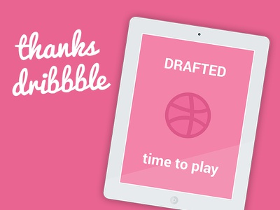 Hello - Dribbble Debut debut first shot thank you design graphic design drafted dribble draft