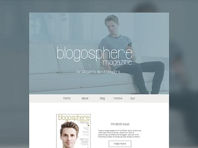 Magazine Website Concept ecommerce mockup concept web design website magazine