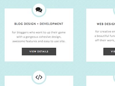 Service Page Exploration web user interface portfolio personal site blog design web design services