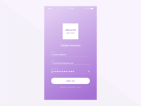 Daily UI Challenge #001 - Sign Up