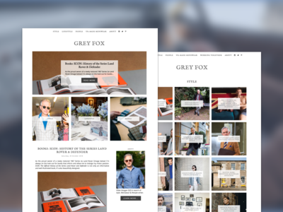 Blog Redesign - Grey Fox blog graphic grid layout ux ui ui  ux design blogger web design blog design
