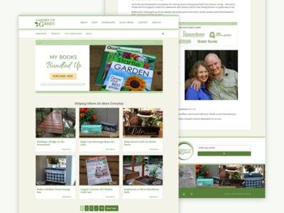 WordPress Theme - Garden Up Green theme web web design design blog design wordpress sketch