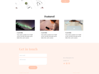 Footer for Personal Website