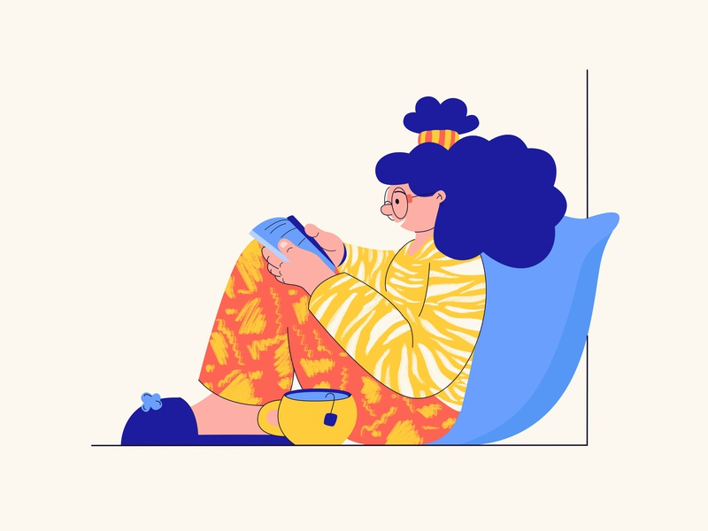 Time to read books) brand time to read books character design branding marvelous website ui simple web character design art flat vector digitalpainting drawing illustration