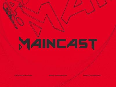 maincast logo typeface & identity used and unused 2019