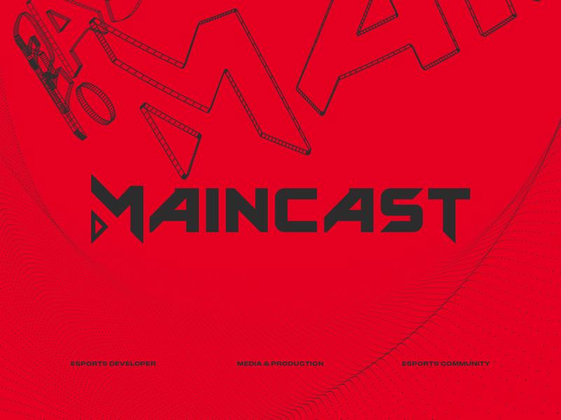 maincast logo typeface & identity used and unused 2019 letters key art keyimage branding csgo dota2 broadcast typography design logo esports