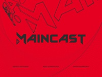 maincast logo typeface & identity used and unused 2019 letters key art keyimage branding csgo dota2 broadcast typography design logo esports
