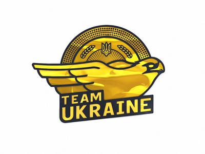 Dota 2 Team Ukraine 2018 Refined logo illustration team vector dota2 ukraine typography design logo esports
