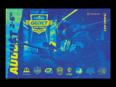 New York Invitational 2019 league illustration csgo broadcast design logo esports
