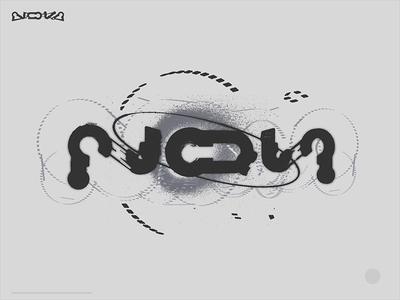 cyberpunk lettering modeling illustration logo typography sign letters design cyberpunk nova