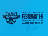 CS:GO ICE Challenge London 2020 tournament identity league typography design logo esports