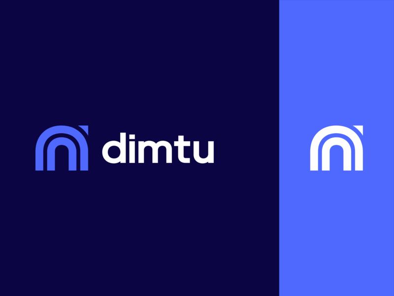 Dimtu Logo type flat web animation app ux vector typography mobile logo minimal lettering illustrator illustration identity icon design clean branding blue