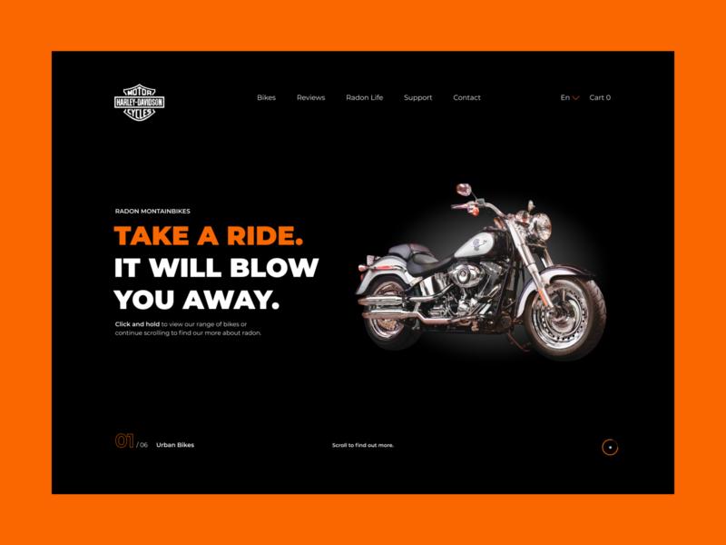 Harley-Davidson mainpage concept davidson harley-davidson harley davidson harley ui webdesign website design