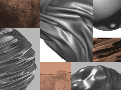 Clay+ - Materials clothes water stone wood metal procreate cinema4d materials glass silk texture branding geometry flat minimal 2d vector design graphic pattern