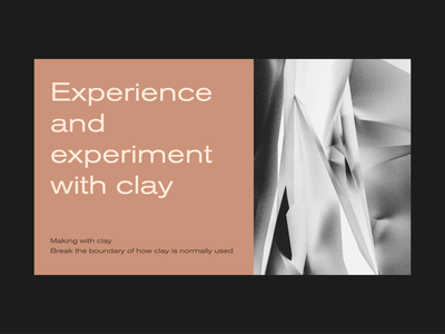 Clay+ Business card black grey lab brown card workshop glass stone cinema4d texture line branding logo flat minimal vector 2d design graphic pattern