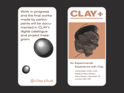 Clay+ Mobile c4d concept graphicdesign ios landingpage mobile simple website web clean ux branding logo ui flat minimal 2d design graphic illustration