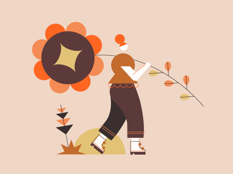 🌸🌼🌸 flower website web pattern mobile minimal graphic design geometric flat design concept clean character branding art animation app icon illustration 2d