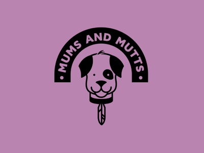 Mums and Mutts V2 doggy kids dog logo dog