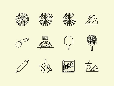 Pizza Icon Set icon set food logo icons pizza