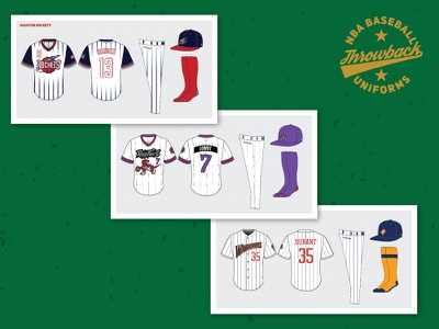 NBA x MLB Uniforms uniform baseball basketball nba mlb