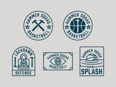 Hammer Squad Basketball sport basketball badge logo