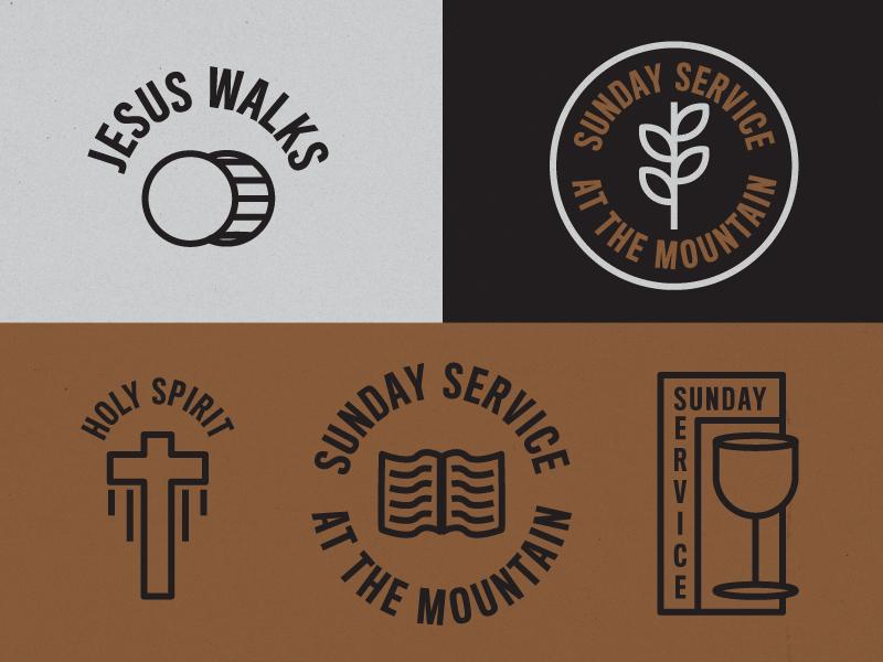 Sunday Service Remix merch design icons