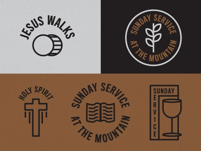 Sunday Service Remix merch design icons