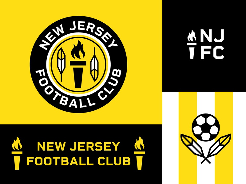 New Jersey Football Club football sports crest soccer badge soccer