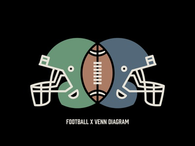 Football x Venn Diagram sports design nfl football