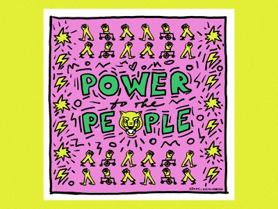 Power to the people ✊ illustrator adobe fresco keith haring adobe graphic digital art digital illustration art illustration