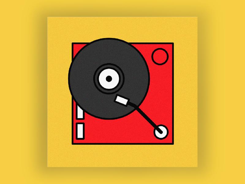 R is for record. 36 days of type flat digital illustration digital art typography art illustration vinyl records