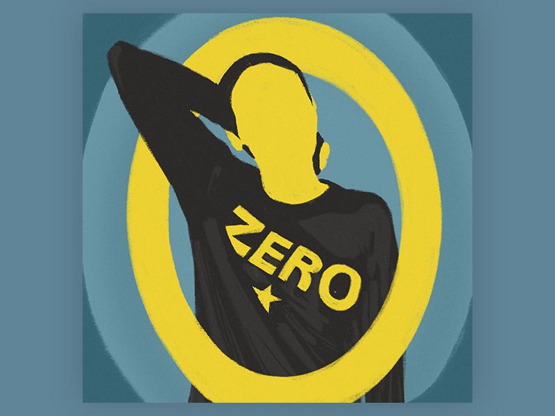 Zero for 36 days of type procreate digital art portrait 36 days of type zero rocknroll smashing pumpkins music typography digital illustration art illustration
