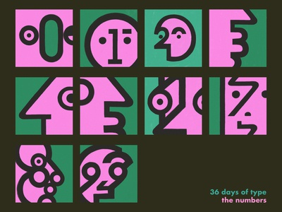 my 36 Days of Type - the Numbers