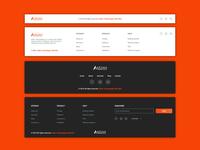 Footer UI for Aidantech