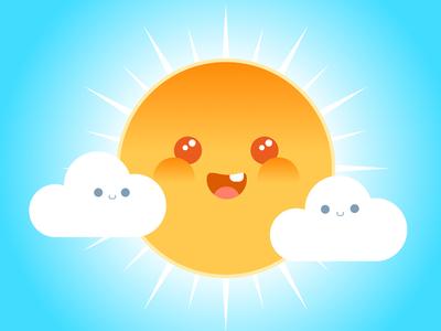 Sunny Tee Print vector art vector illustration print t-shirt children kids sunshine sunny happy cute vector