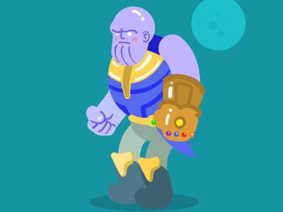 Thanos Sketch adobe illustration art vector comics marvel thanos