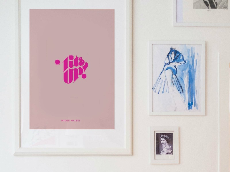 Tits Up typography print etsy shop