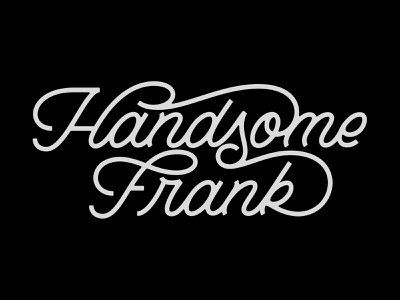 Handsome Frank uk london agency illustration branding handlettering typography type logotype logo script prince brendan frank handsome