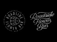 Roadside Flower Bar darien buffalo new york prince brendan script typography type lettering design badge crest banana leaf logotype logo plants shop bar flower roadside