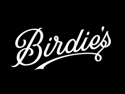 Birdie's prince brendan b restaurant oyster branding design script logotype logo typography type bird birdies