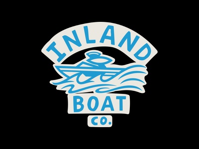 Inland Boat Co. Tee illustration design logo raleigh surf shirt tee boat inland