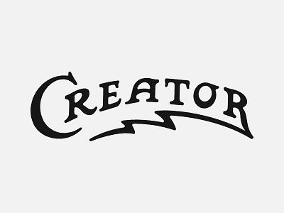 Creator prince brendan r c bolt lightning create creative logo lettering typography type creator
