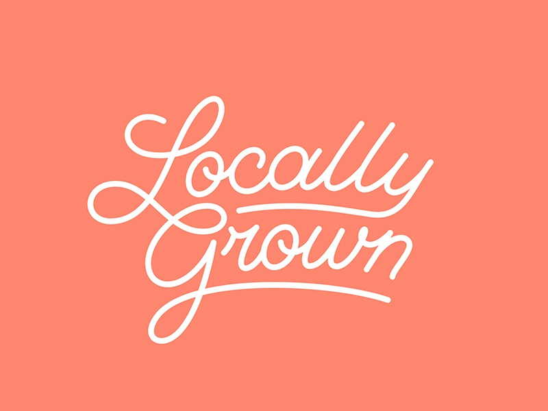 Locally Grown wework typography logotype lettering neon market farmer city new york grown local