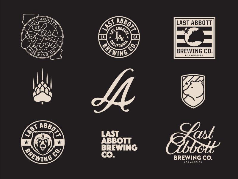 Last Abbott Brewing Co prince brendan branding beer custom typography logo brewery
