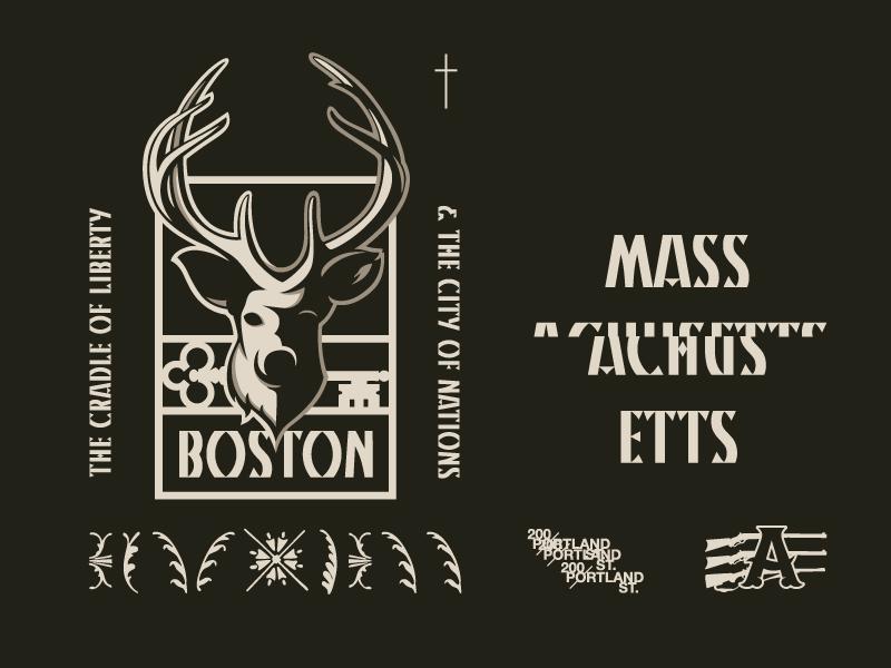 City of Nations design prince brendan massachusetts deer gun nation city boston