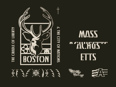 City of Nations design prince brendan massachusetts deer gun nation city boston