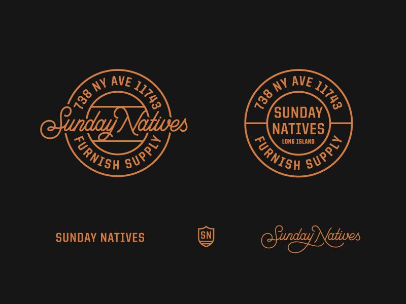Sunday Natives (Full Logo) prince brendan logotype type lettering script badge logo natives sunday
