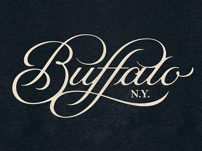Buffalo prince brendan logo lettering typography type new york buffalo