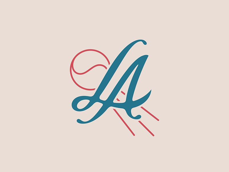 LA Baseball prince brendan sports logo baseball los angeles la