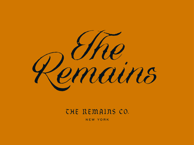 The Remains Co. new york prince brendan hand-lettering vintage script logo logotype lettering company co remains the